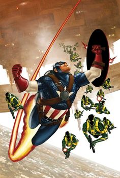 Captain America and Hydra by Steve Epting