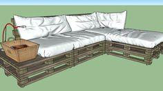sofá feito com paletes - 3D Warehouse