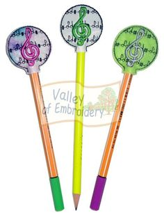 Valley of Embroidery Friends freebie -- Pencil toppers