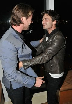 Sebastian Stan and Chris Hemsworth - proof that Marvel is trying to kill me.