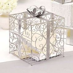 could be painted gold - Metal Gift Card Box $40