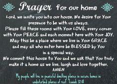 Prayer for our Home chalkboard www.diybeautify.com