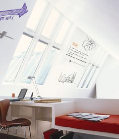 Dry erase wall paint -- Write your thoughts anywhere!