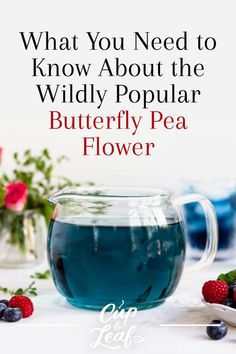 Infuse Color With Color-Changing Butterfly Pea Flower Tea - Cup & Leaf Butterfly Pea Flower Tea, Lemongrass Tea, Flower Food, Flower Ideas, Natural Food Coloring, Iced Tea Recipes, Types Of Tea, Brewing Tea, How To Squeeze Lemons
