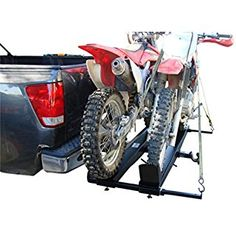 """1000-Lb Steel Double Dirt Bike Hitch Mount Carrier Rack For 2"""" Tow Receivers"""