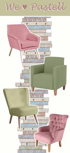 We ♥ Pastell & Sessel, beides in Einem? Perfekt!