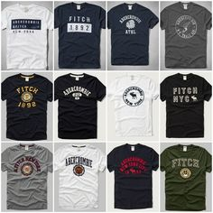 Nwt Abercrombie & Fitch By Hollister Mens Muscle Fit T Shirt Size S M L XL XXL #AbercrombieFitch #GraphicTee #Everyday