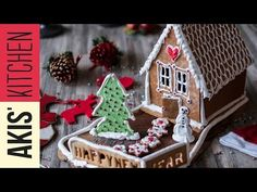The best recipe for Christmas is by chef Akis Petretzikis. Bake and decorate these beautiful, tasty Christmas Gingerbread Houses with your family and friends! Christmas Gingerbread House, Christmas Art, Christmas And New Year, Xmas, Gingerbread Houses, Christmas Recipes, Christmas Decorations, Desserts With Biscuits, New Year's Cake