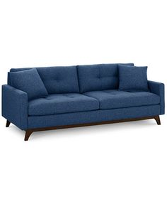 Nari Tufted Back Sofa with 2 Toss Pillows- Custom Colors, Only at Macy's | macys.com