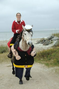 Horse dressed as popeye  | 10 Horses Dressed as Well-Known Movie Characters