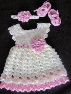 Vestido del bebé recién vestido conjunto de vestido