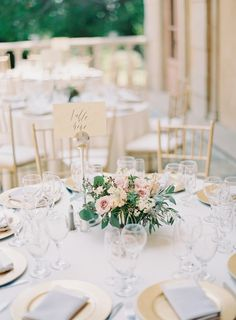 sodazzling.com | Table setting | Romantic Dusty Pink Wedding from The Great Romance - thegreatromancephoto.com