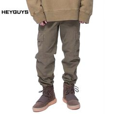 Find More Cargo Pants Information about HEYGUYS 2017 fashion loose Long Pant Men cargo  pants Baggy Jogger Trousers Fashion Fitted Bottoms streetwear hiphop Pocket pant,High Quality pants sportswear,China pants xxl Suppliers, Cheap hiphop pendant from HEYGUYS streetwear Store on Aliexpress.com