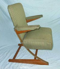 Spring Chair McKay Vintage Rocking Mid Century Modern Steel Cantilevered Decor