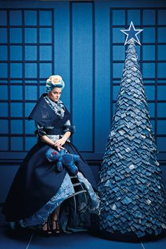 i always dreamed of one day having a denim Christmas tree.......why?, pinned by Ton van der Veer