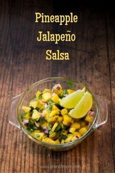 Pineapple Jalapeno Salsa Recipe - a sweet and spicy flavor blend! - A Ranch Mom Jalapeno Salsa, Jalapeno Recipes, Pineapple Recipes, Salsa Salsa, Chimichurri, Mexican Food Recipes, Healthy Recipes, Ethnic Recipes, Vegetarian Recipes