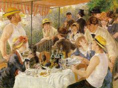 "PIERRE-AUGUSTE RENOIR: ""Le déjeuner des canotiers (Luncheon of the boating party)"", 1880-81"