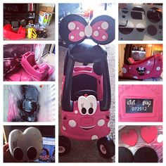 Minnie Mouse cozy coupe For questions or materials needed email me at househusband101@gmail.com