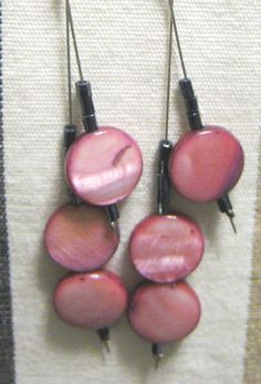 Mother Of Pearl Beads Earrings by MeAndJewelry on Etsy, $12.99