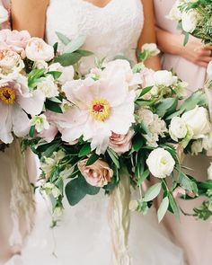 stunning pale pink bouquets