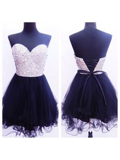 2016 strapless sweetheart mini freshman for teens sparkly cute homecoming prom gowns dress The strapless black sweetheart mini homecoming dresses are fully lined, 8 bones in the bodice, chest pad in t Dresses Short, Hoco Dresses, Dresses For Teens, Dance Dresses, Pretty Dresses, Beautiful Dresses, Formal Dresses, Mini Dresses, Sparkly Dresses