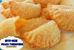 Bite-Size Peach Turnovers (made using frozen pie crust)