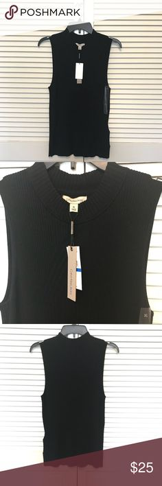 Calvin Klein Sleeveless mock Top New with tag Calvin Klein Jeans Sleeveless Mock top color black size XL MSRP $59 Calvin Klein Jeans Tops
