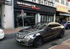 Cool Mercedes: Black chrome wrap mercedes e-class coupe...  Cars Vehicles Check more at http://24car.top/2017/2017/07/12/mercedes-black-chrome-wrap-mercedes-e-class-coupe-cars-vehicles/