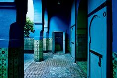 """The colours you'll want to decorate with in 2016: Snorkel Blue Eiseman said this shade is """"meant to be a bit more fun, less serious than navy, and serve as one of the anchor colors for the spring palette."""" Image: This strking blue dominates the Marrakech home of designerAgnès Emery."""