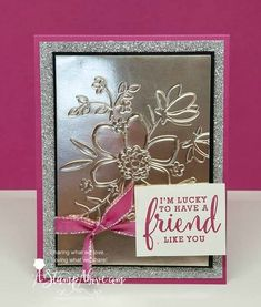 Learn how easy it is to emboss Stampin Handmade Greetings, Greeting Cards Handmade, Fall Cards, Christmas Cards, White Christmas, 123 Cards, Paper Cards, Foil Paper, Up Book
