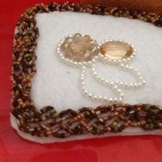 Braid style beadwork idea by erin davis vamp border and flower design