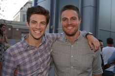 Both, yes - Grant Gustin and Stephen Amell