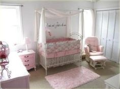 No, I'm not pregnant.  I just find this so pretty for a little girls room.