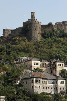 Gjirokastra - Citadel - Clock-tower - Ottoman houses - Albania