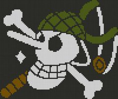 Usopp's Jolly Roger - One Piece perler bead pattern
