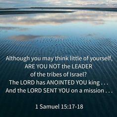 1sam15:17-18
