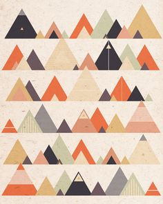 print & pattern: DESIGNER - louise harding #triangle #mountain