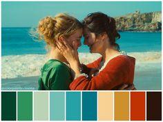 Movie Color Palette, Colour Pallette, Color In Film, Cinema Colours, Blue Poster, Color Studies, Film Stills, Color Theory, Portrait