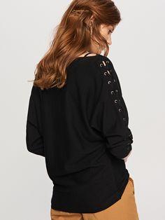 Sweter z gorsetowym wiązaniem, RESERVED, SQ830-99X