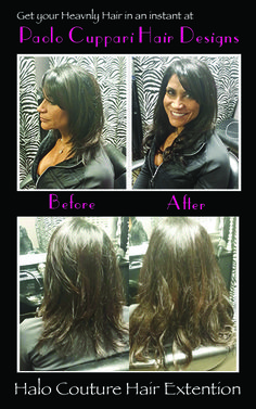 Halo couture hair extensions raspberry glow hair pinterest yvette salva a client just got halo couture extensions and extended her hair instantly and pmusecretfo Choice Image