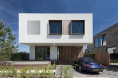 The throughly modern exterior belies the natural feeling interior