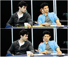 Shadowhunters cast || Matthew Daddario and Harry Shum Jr || Malec || Alec Lightwood and Magnus Bane