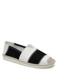 Canvas Elastic Band Flat Shoes (Black) 86fcbfbd8d40