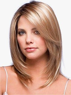 Fabulous look for Layered medium length hair with face framing layers
