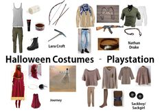 Dress like your favorite characters from Playstation for Halloween! The main character from Journey, Lara Croft from Tomb Raider, Elena, Chloe or Nathan Drake from Uncharted and Sackboy/Sackgirl from Little Big Planet!