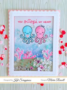 Hello crafters! It's Maria Russell here with you again today to share with you a cute Valentine's card, showcasing the Stitched Fancy Scalloped Rectangle Dies, Stitched Rectangle Dies, Lawn Fawn Oc…