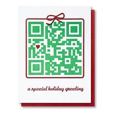 QR Code Holiday Letterpress Card