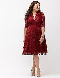 Plus Size Holiday Party Dress - Plus Size Lace Cocktail Dress