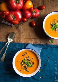 Pomidorowa z zielonym twistem Vegetables, Ethnic Recipes, Food, Essen, Vegetable Recipes, Meals, Yemek, Veggies, Eten