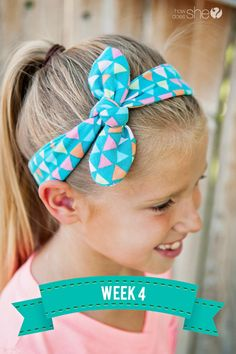 Summer Sew SchoolSimple headband made of knit fabric.